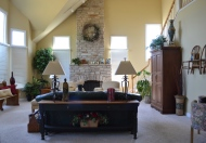 BEFORE - Family Room Staging
